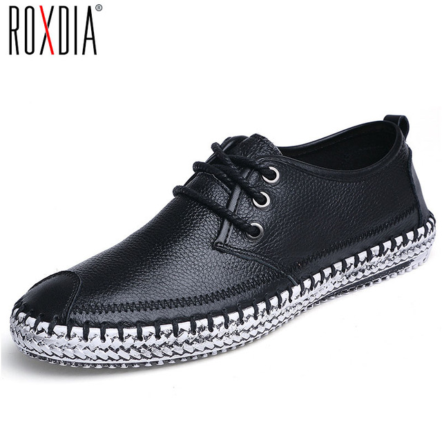 Men's Casual Driving Shoes Genuine Leather Walking Slip On Loafers Shoes Plus Size