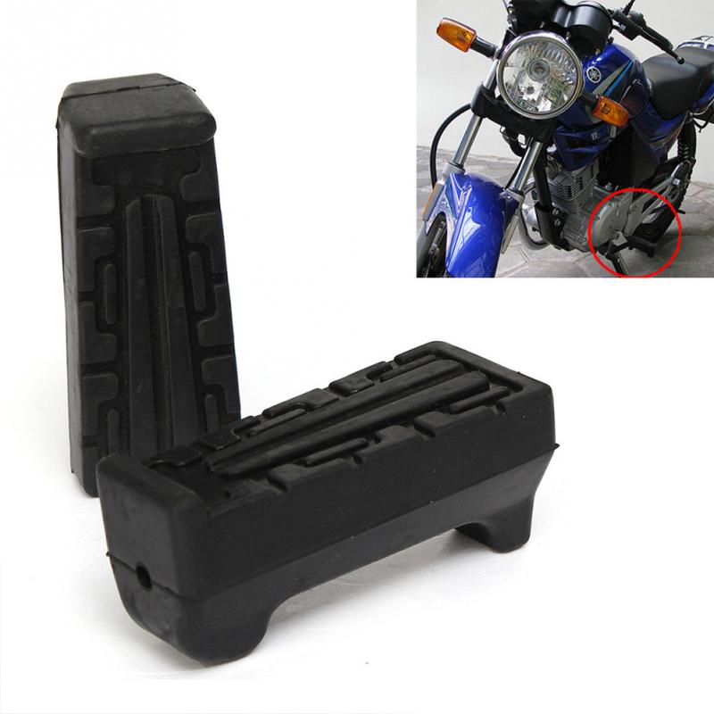 Handlebars Footrest Rubbers Front Ybr-125 Yamaha Peg High-Quality Black For 2pcs