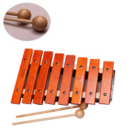 M WS 8 Notes Wooden Children Kid Mahogany Xylophone Glockenspiel Musical Instrument Music Toys