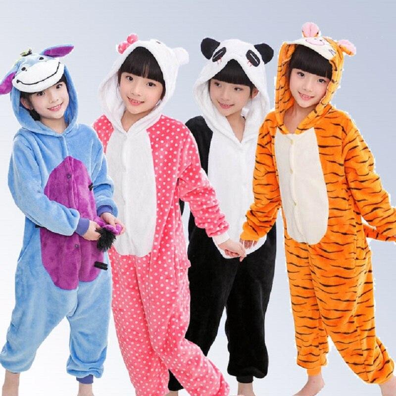 4fe6c04a9 Baby Boys Girls Pajamas Autumn Winter Children Flannel Warm animal ...