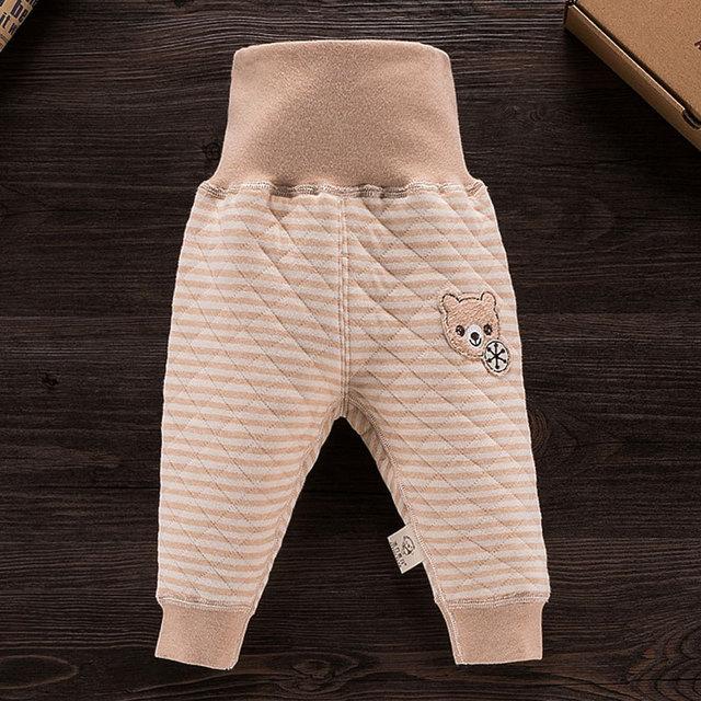 Novas Calças Do Bebê Recém-nascido Outono Inverno Espessamento Algodão Orgânico Das Meninas Dos Meninos Calças Leggings Quente das Crianças Dos Desenhos Animados Calças 0-12 M