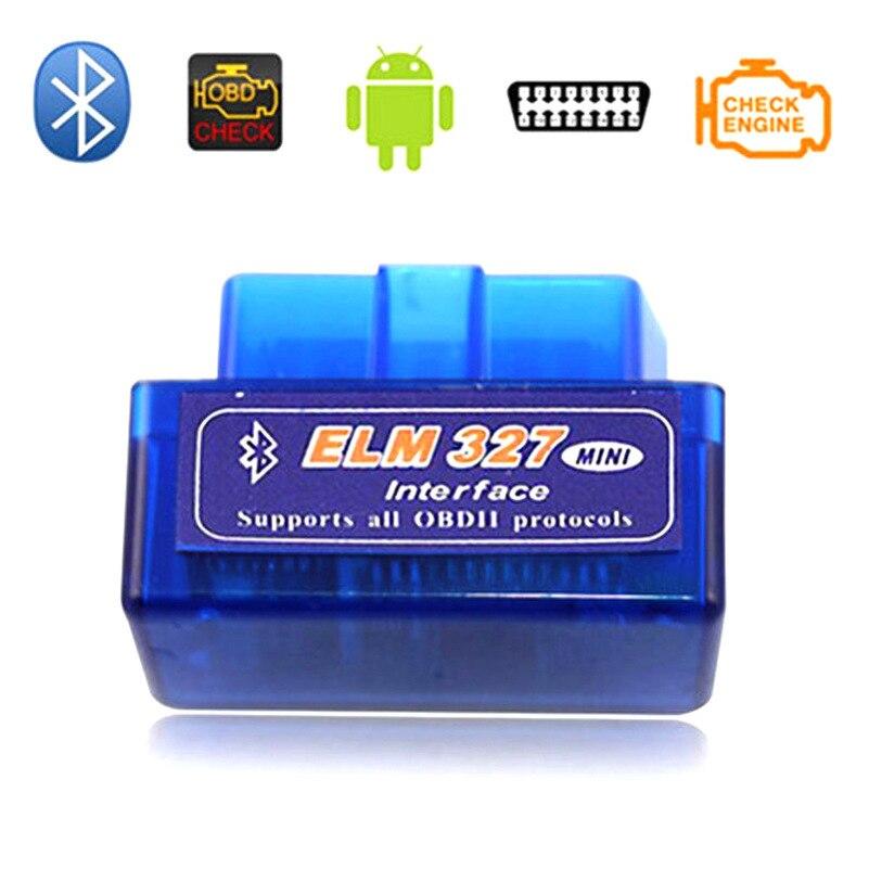 WILDAUTO Super Mini ELM327 Bluetooth Interface V2.1 OBD2 II Auto Diagnostic Tool ELM 327 Work ON Android Torque/PC