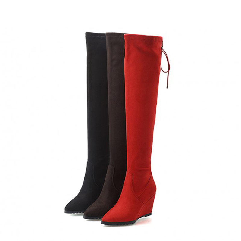 Online Buy Wholesale leather knee high boots wide calf from China ...