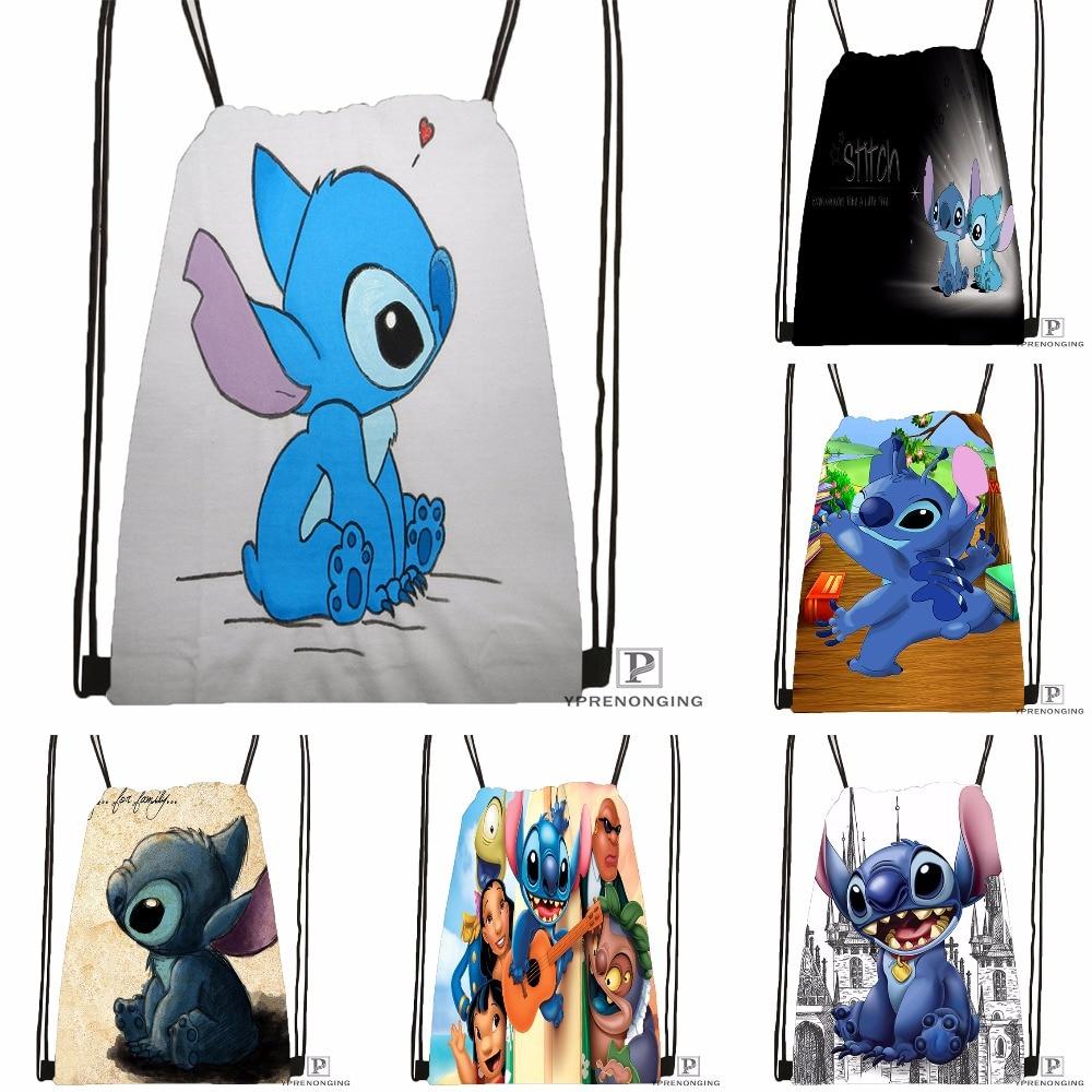 Custom Stitch Drawstring Backpack Bag Cute Daypack Kids Satchel (Black Back) 31x40cm#180531-03-06