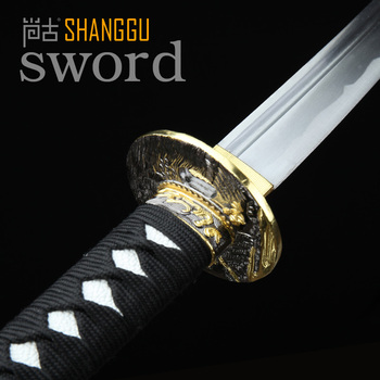 Carbon Build Color Cutter Black Scabbard Japan Samurai Sword  Warrior Equipment Sword katana COS