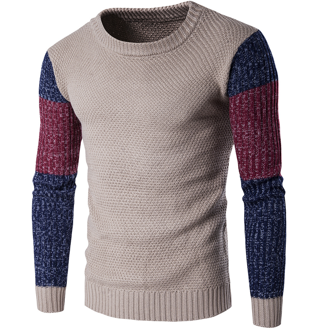 New Arrivals 2018 Mens Long-sleeved Cotton Stripes Sweater Fashion And Hot Pullover Men Brand New Of Wholesale