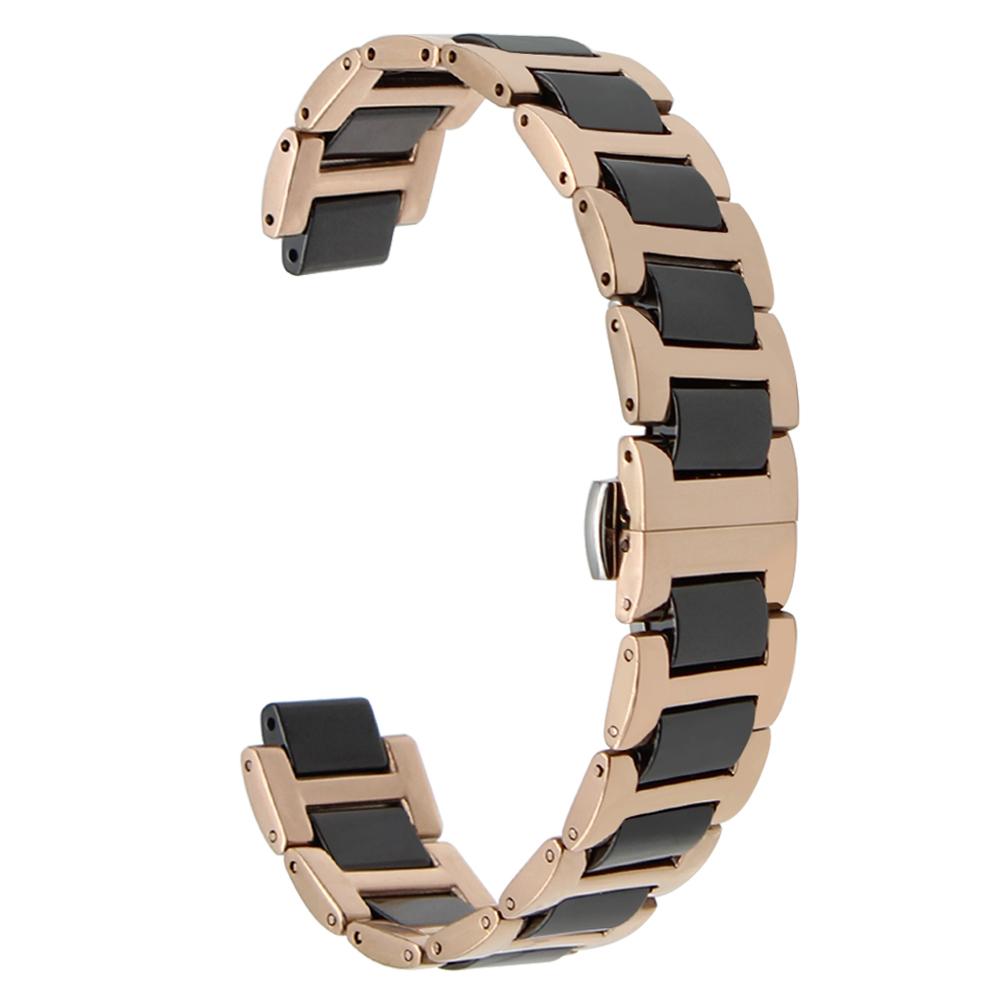 bfd3a915192 Faixa de Relógio de Aço Inoxidável + cerâmica 12 11x18mm x mm 12 ...