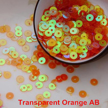4000pcs/lot (30g) Trans.Orange  AB color 4mm Flat round loose sequins Paillettes sewing Wedding craft Good quality Free Shipping