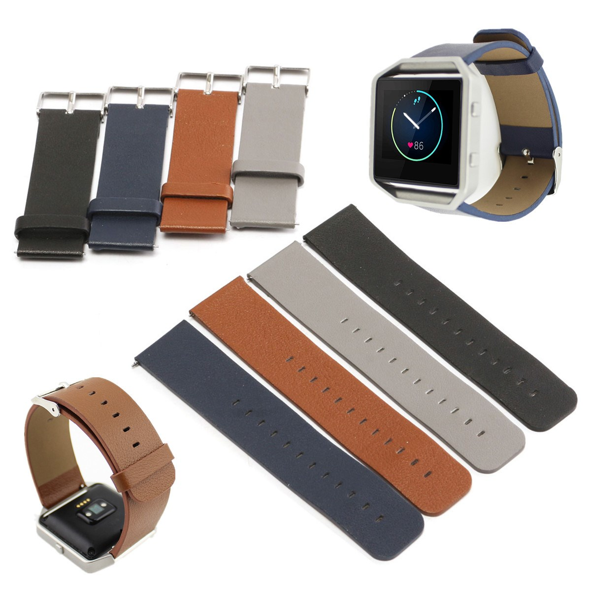 New Fitbit Blaze Strap Genuine PU Leather Loop Strap For Fitbit Blaze Tracker Smart Fitness Watch With Magnet Lock Strap special 1ch rf wireless remote control switch system 1 transmitter