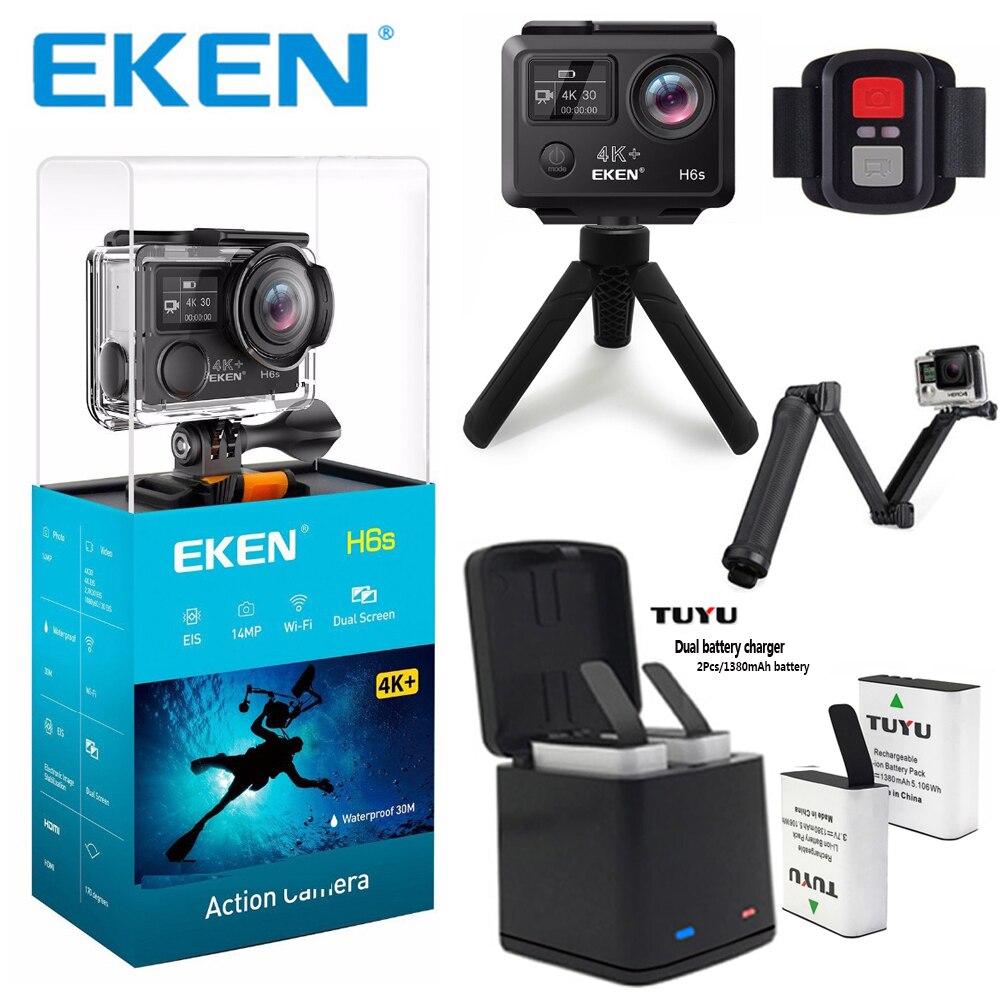 Originale EKEN H6S 4 k + Ultra HD Macchina Fotografica di Azione di Built-In Ambarella A12 Chipset 4K @ 30fps 1080p @ 60fps EIS impermeabile Macchina Fotografica di Azione