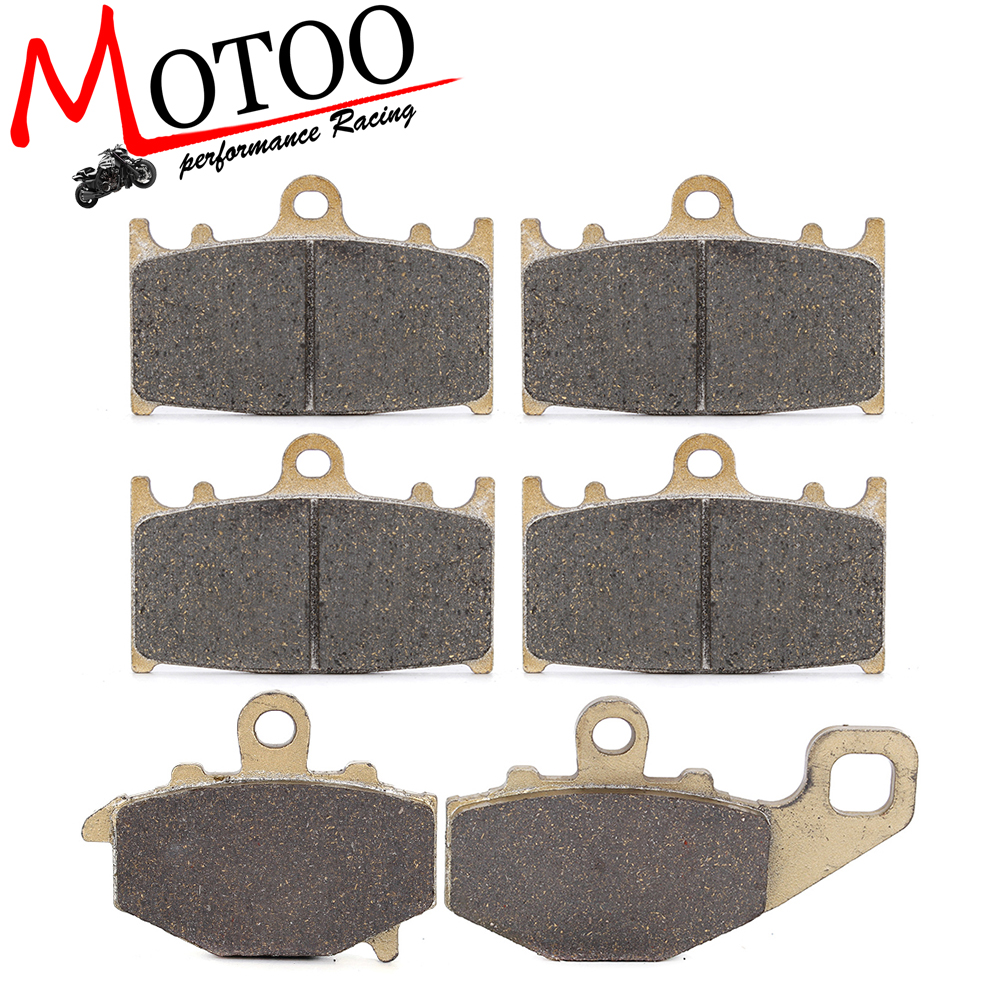 Motoo - Motorcycle Front and Rear Brake Pads For KAWASAKI ZZR400 1993-1999 motoo motorcycle front and rear brake pads for yamaha xvz1300 xvz 1300 royal star venture s 2008 2013 venture 1999 2001