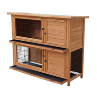 48 2 Tiers Waterproof Rabbit Cage Hamster Chicken Cage Wood House Pet Cage For Farm Animals