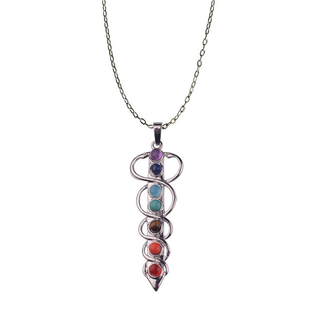 Online shop angel wings divine god symbol 7 chakra stone necklace angel wings divine god symbol 7 chakra stone necklace reiki spiritual healing amulet necklace for chakra balancing mozeypictures Image collections