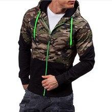 2017 männer fitness Hoodie camouflage Crossfit pullover Reißverschluss jacke 3D Sweatshirt sportswear fashion topcoat hombre Plus Größe