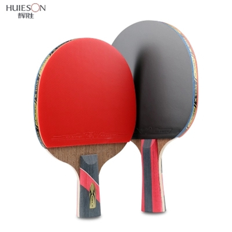 Image 4 - HUIESON 6 Star Table Tennis Racket Wenge Wood & Carbon Fiber Blade  Sticky Pimples in Rubber Super Powerful Ping Pong Racket Bat-in Table Tennis Rackets from Sports & Entertainment