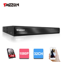 Tmezon HD 32 канала полный 1080 P видео Регистраторы DVR NVR безопасности Системы Скрытого видеонаблюдения Поддержка аналоговый AHD CVI TVI IP CCTV камера