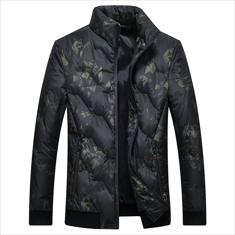 Men's White Duck   Down   Jacket Warm   Down     Coat   for Men Male