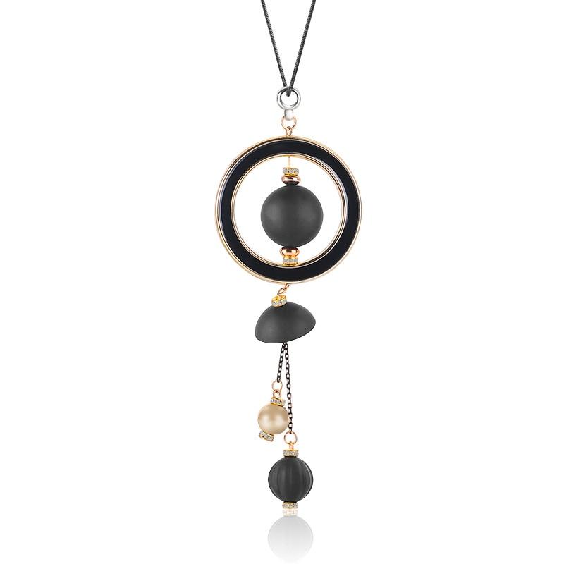 X & P Женская мода ожерелье длинные ожерелья и подвески деревянные бусины ожерелье подарок для женщин девушки дамы ювелирные изделия