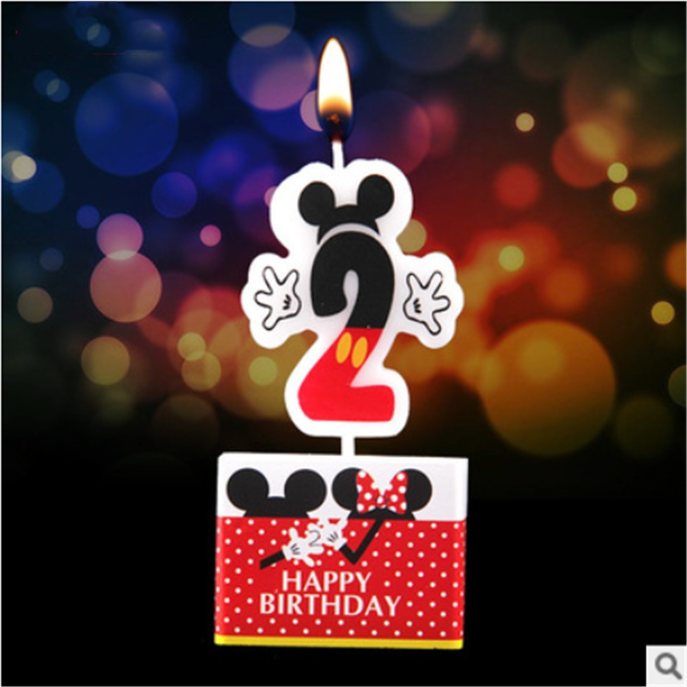 Party Candle About Mickey Mouse Birthday Cake Candle Party Supplies Anniversary