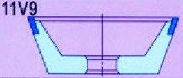 Brusné kotouče 11V9 s pryskyřičným pojivem / CBN 100 X 3/7 X 20 - Elektrické nářadí - Fotografie 2