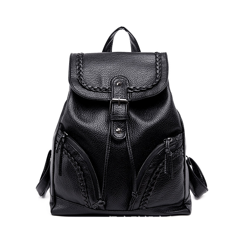 Fashion Women Backpack High Quality Leather Backpacks for Teenage Girls Female School Shoulder Bag Bagpack mochila