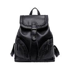 Модные женские туфли рюкзак высокое качество кожаные рюкзаки для девочек-подростков Женский школьная сумка рюкзак Mochila
