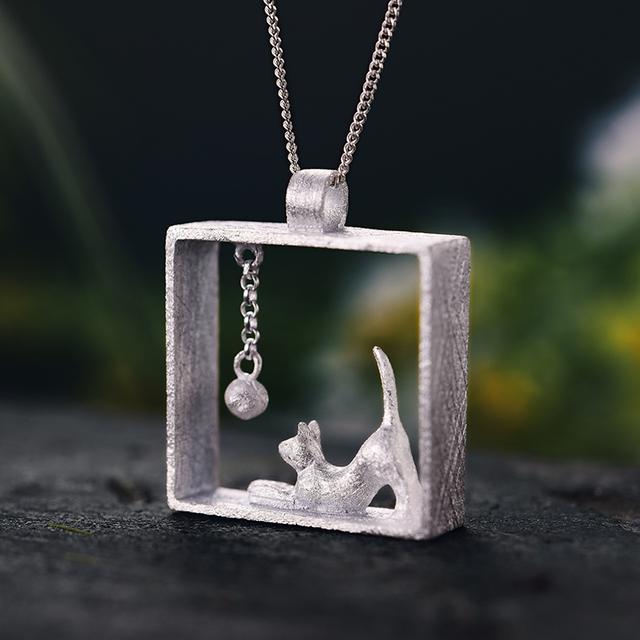 Fine Fashion Jewelry | Cat Pendant Necklace
