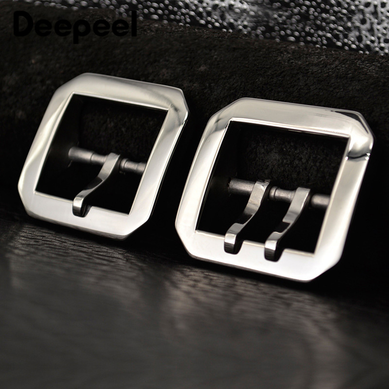 Deepeel 1pc/3pcs 40mm High-grade Stainless Steel Belt Buckles Simple Men's Pin Buckles Head DIY Leather Crafts Belt Clip Decor
