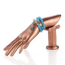 High Quality Gold Resin Female Mannequin Hand For Ring,Manikin Dummy Hands