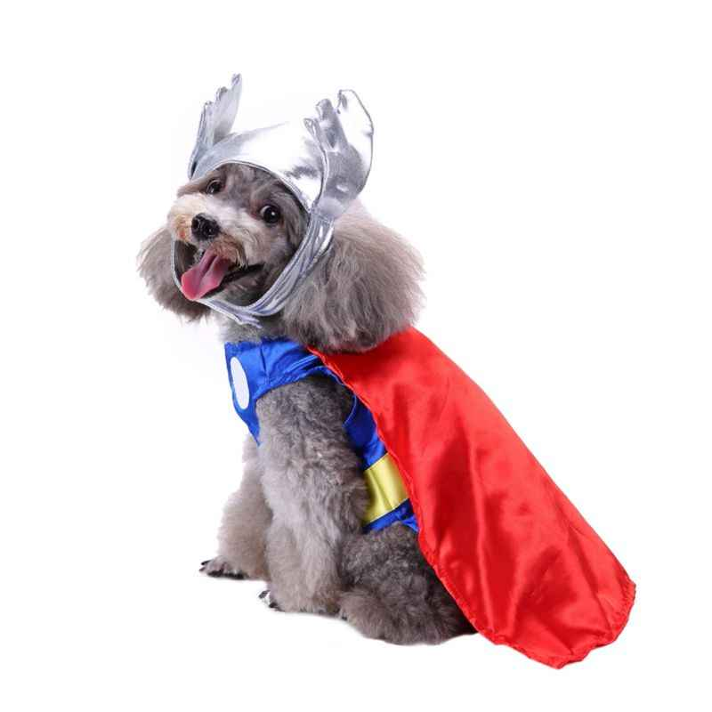 Halloween Pet Costume Cat Dog Clothing Pet Clothes Superhero Set Christmas Uniform Party Roupinha Para Cachorro Cosplay