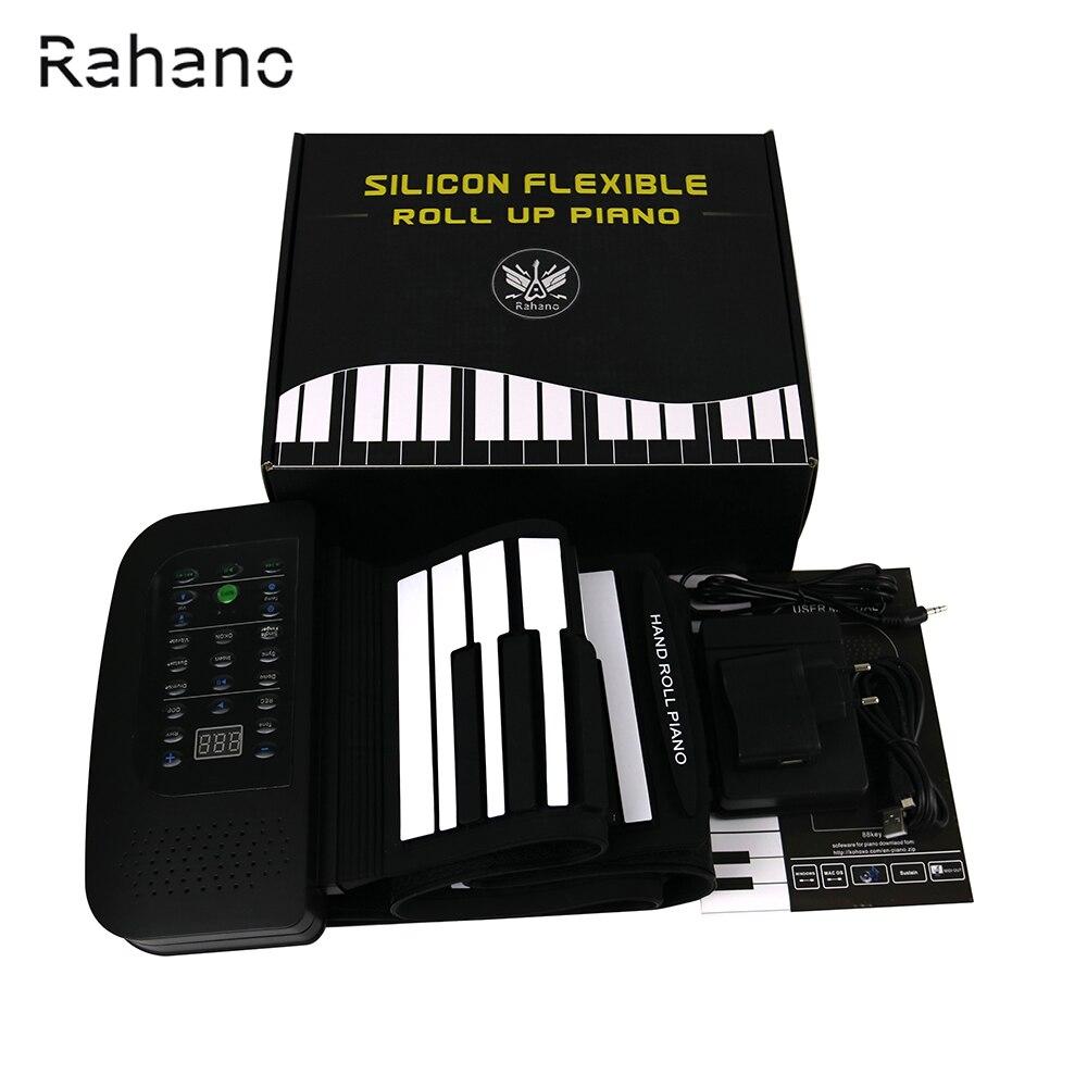R PA88 88 Touches MIDI Flexible 140 Tons Électronique Roll Up Pliant Piano Haut-Parleur Intégré avec Batterie