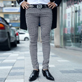 men's plaid pants 2017 new fashion autumn and winter male casual pants slim skinny pants for man
