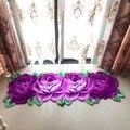Trasporto libero handmade 4 rose art tappeto per la camera da letto/comodino arte tappeto romantico rosa
