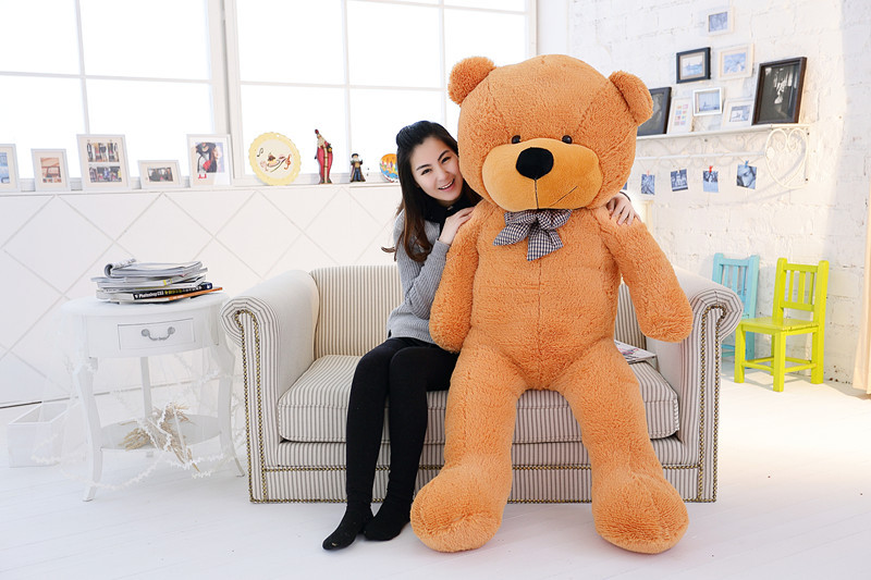 large 180cm teddy bear plush toy soft hugging pillow birthday gift  t5876 lovely giant panda about 70cm plush toy t shirt dress panda doll soft throw pillow christmas birthday gift x023