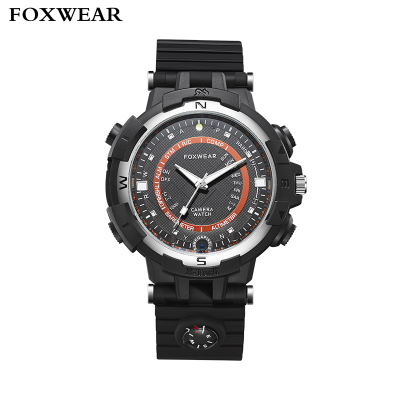 Фотография FOXWEAR FOX8 720P HD Car Digital Video Recorder Recording Wristwatch Driving Sports Smart Camera Watch With LED Light Compass