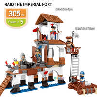 Caraïbes Pirate compatible Legoed assemblé blocs de briques de construction enfants éducation enfants kit jouet ensemble fort château cadeau d'anniversaire