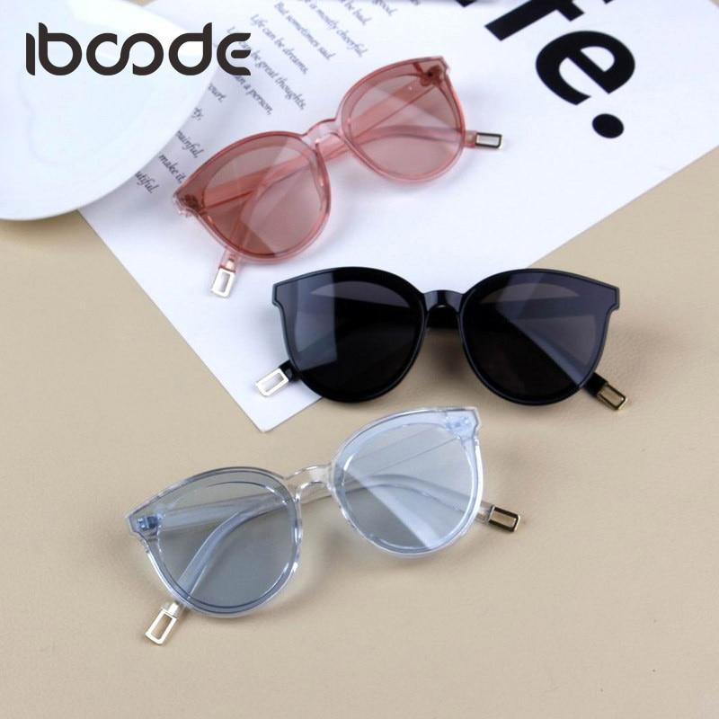 Iboode Brand New Kids Sunglasses Children Fashion Big Frame Sun Glasses Girl Boy Eyewear Travel Eye Accessory Cateye Cute Uv400