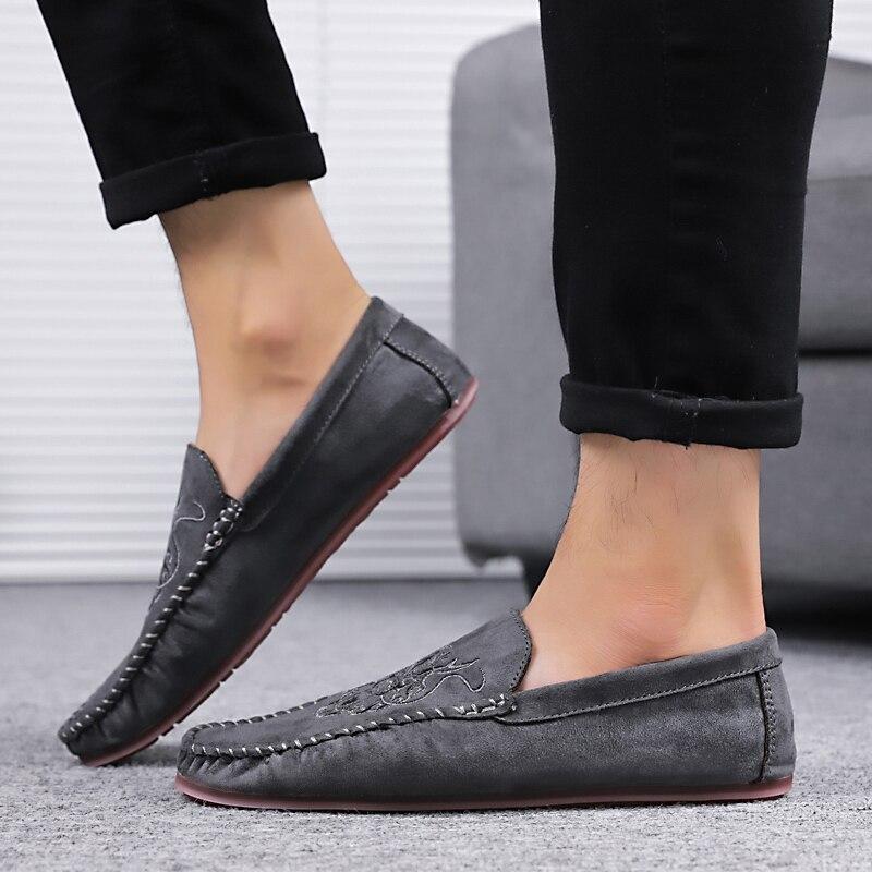 Mode Printemps Black Automne brown Conduite Casual Noir Léger Mocassins Brun Hommes Élégant À Chaussures Homme La gray wqzxX6q