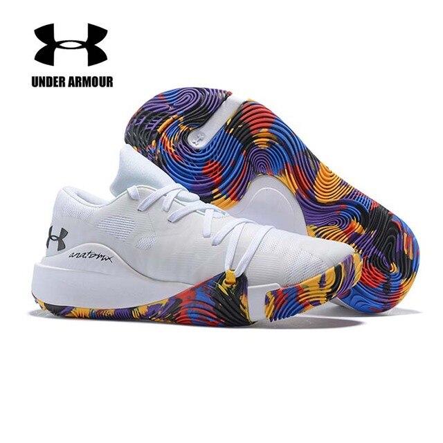 Under Armour Pria Curry 5 Sepatu Basket Low Top Basket Sneakers Under Armour Pria Zapatillas Hombre Deportiva US 7 -12