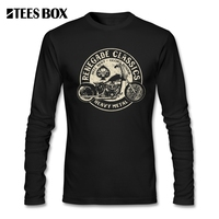 T Shirts For Men Glory Bounds Motorcycle USA Harley Round Collar Long Sleeve T Shirt Hip