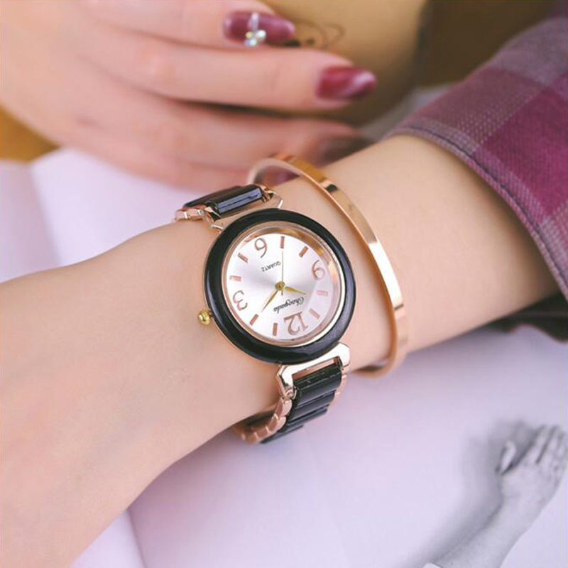 2018 hot seller women girls office ladies dress luxury diamond fashion alloy quartz wristwatches rose gold electronic clock diamond stylish watches for girls