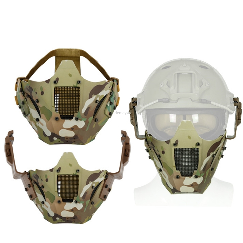 Multicam Tactical Half Face Mask Airsoft Paintball Combat Hunting Masks Military Cs Game Camouflage Face Mask