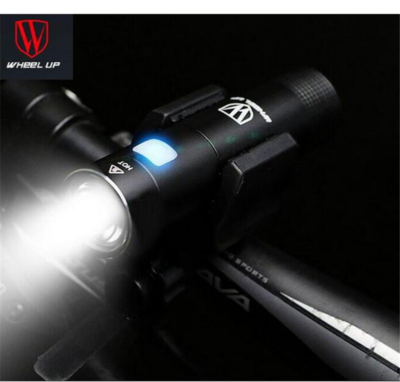 WHEEL UP Rainproof Bike Light Front Headlights Handlebar Bicycle Lamp Usb Rechargeable Cycling Led Flashlight MTB Accessories wheel up waterproof usb bicycle light rechargeable mtb bike light front handlebar led lamp night cycling torch accessories
