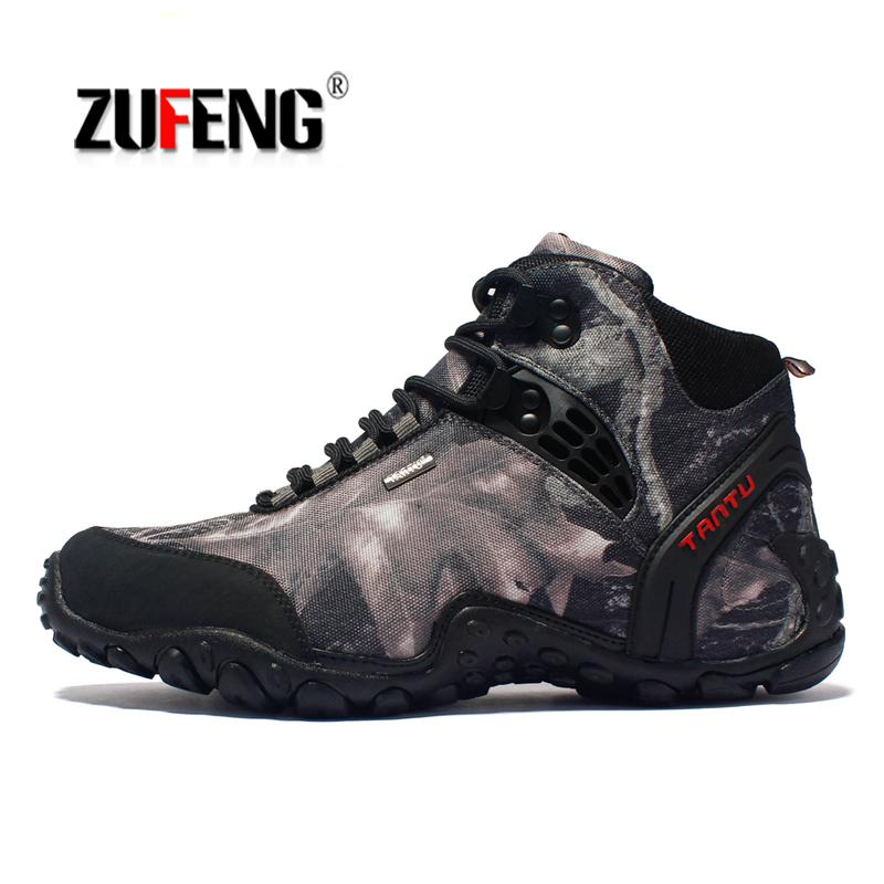 Waterproof Hiking Shoes For Men Suede Mountain Climbing Shoes Quality Trekking Sneakers Shoes Breathable Hiking Hunting Boots yitu men s winter sneakers waterproof breathable hiking shoes outdoor mountain climbing trekking boots ankle camel hunting shoes