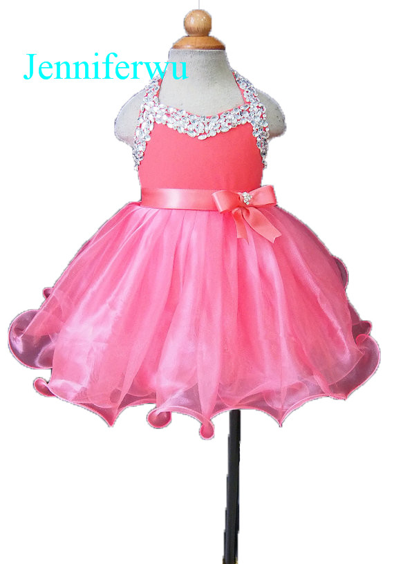 15 color available stunning crystal beaded baby girl clothes  girl dresses  flower girl dresses girl party dresses G079-1 купить