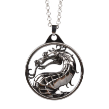 Necklaces And Keychains Vintage Fighting Games Mortal Kombat dragon Empire Big Necklace jewelry
