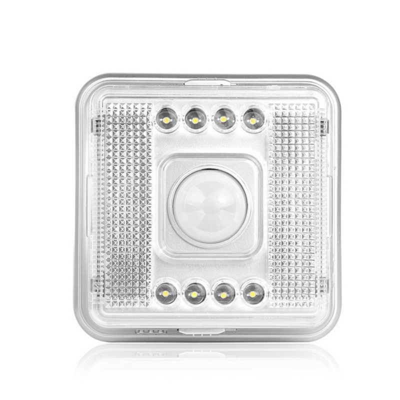 New IR Motion Sensor LED Night Light Wall Light Lamp Cool White for Bedroom Hallway Cabinet Stairwells Outdoor