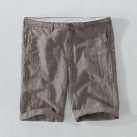 Suehaiwe nuevo estilo de lino shorts hombres casual rayas Lino mens shorts 29-38 más tamaño ropa para hombres corto masculino 3 color