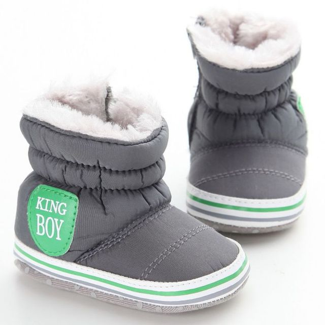 b47f57b3a New Baby Boy Snow Boots Warm Plush Winter Navy Infant Boot Toddler ...