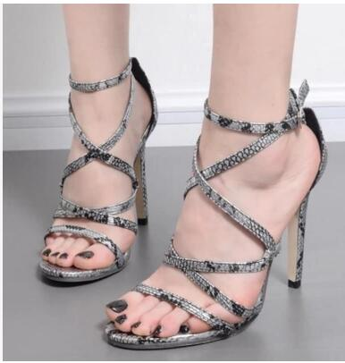 Cheap Price hot Selling European and American cobra Hollow out Riband buckle simplicity Women Summer High Heel Sandals flame out solenoid 3930233 12v with cheap price